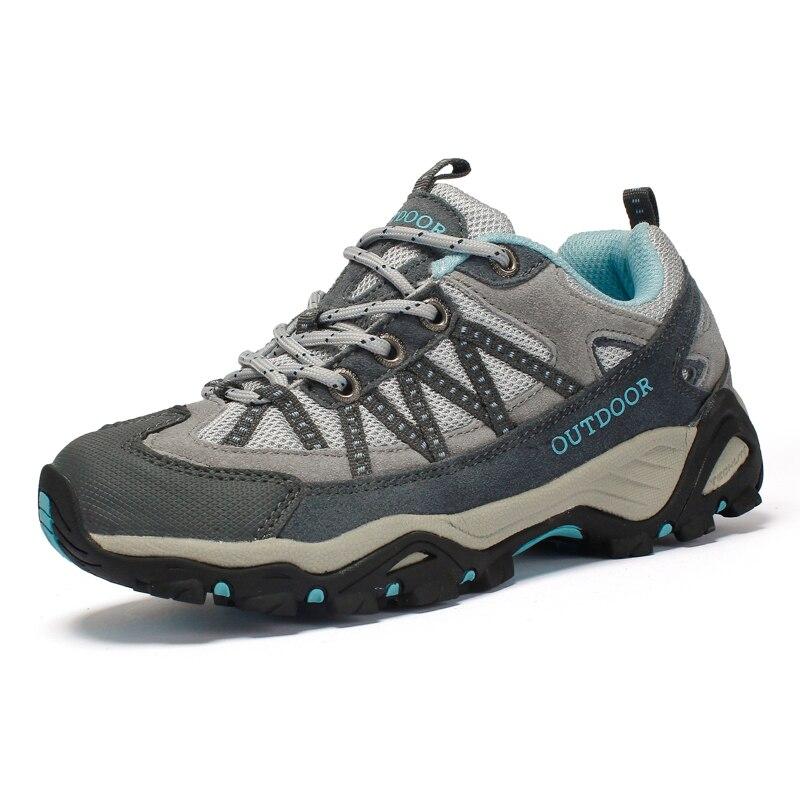 Women Hiking Shoes Trekking Boots Camouflage Sport Mountain Climbing Shoe Outdoor Ladies Girls Pink Gray Walking