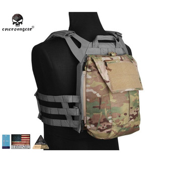 Emersongear Pouch Zip-ON Panel FOR AVS JPC2.0 CPC Emerson Tactical Airsoft Wargame Combat Gear EM8348 Multicam Coyote Black circle