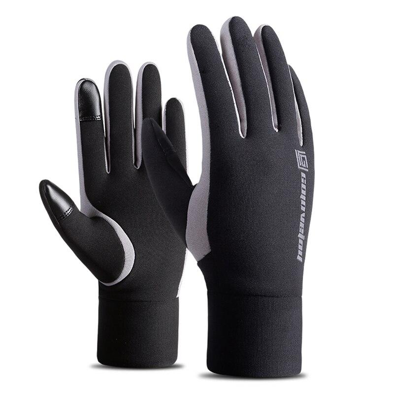 Уличные утолщенные перчатки с сенсорным экраном, ветрозащитные перчатки с флисовой подкладкой для катания на лыжах, сноуборде