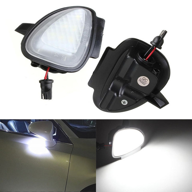 2x Error Free 6SMD LED Auto Light Car Under Side Mirror Light  Puddle Lamp Source for VW GTi Golf 6 MK6 Golf Cabriolet Touran