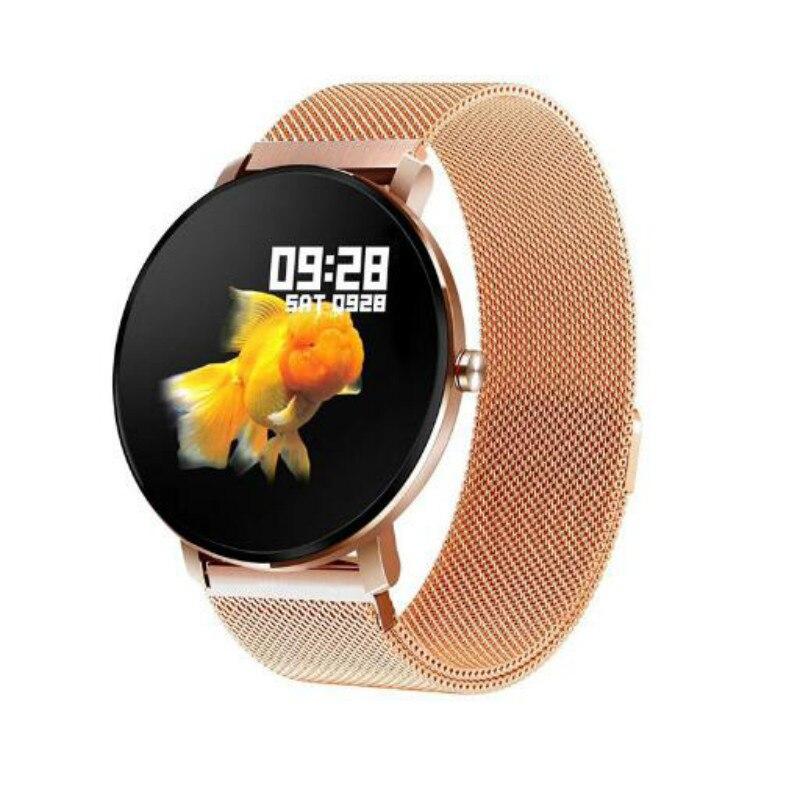 2019 nouveau fréquence cardiaque pression artérielle métal aspect tactile couleur écran rappel d'appel montre intelligente sport bracelet