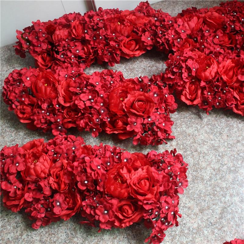 SPR Hoge kwaliteit 10 stks/partij bruiloft bloem muur podium of achtergrond decoratieve groothandel kunstmatige bloem tafel middelpunt-in Kunstmatige & Gedroogde Bloemen van Huis & Tuin op  Groep 1
