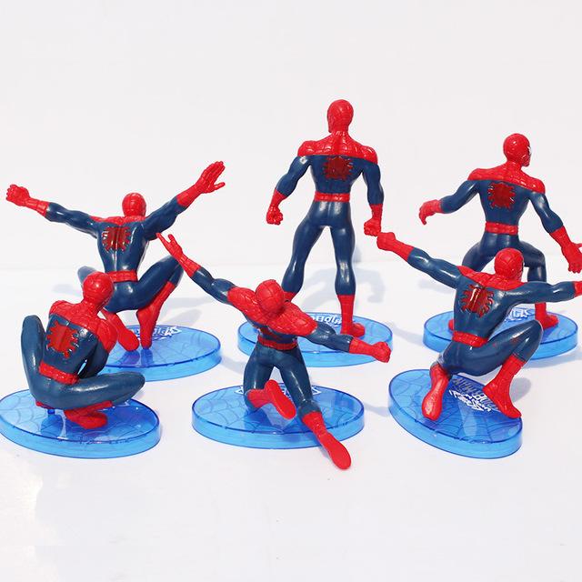 6 Piece Set Spider-Man Figure