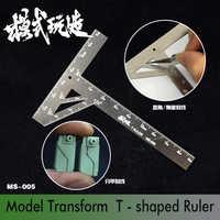 Gundam Model Transform Cutting Scribed Line T-shaped Ruler Machine Armor Upgrade Tool Modeling Hobby Craft Accessory