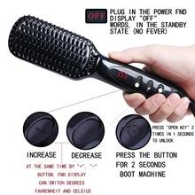 купить Portable Ceramic Hair Straightener Comb Brush Professional Hairstyling Tools Digital Display Hair Straightener for Ladies Girls по цене 1888.15 рублей