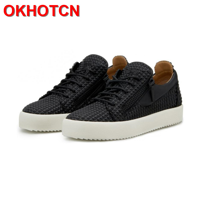 Men Shoes Luxury Brand Black Mens Thick Sole Shoes Lace Up Plaid Shoes Casual Mens Moccasin Spring Fashion Zipper Hiphop Shoes