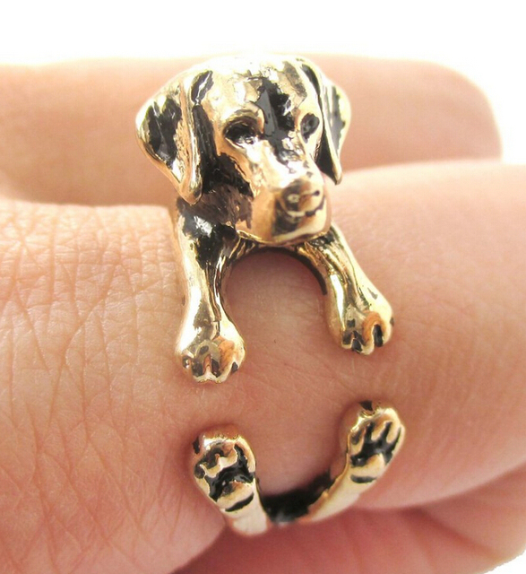 Фото кольцо регулируемое в ретро стиле для любителей животных 12