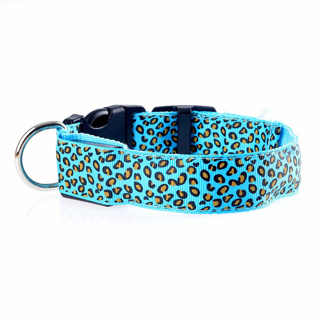LED Leopard Dog Collar