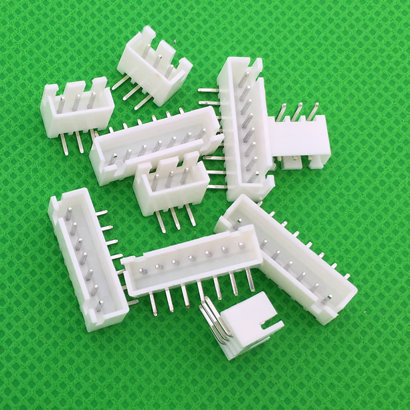 50pcs/LOT XH2.54 Male Right Angle Material Connector Leads Pin Header 2.54mm XH-AW 2P 3P 4P 5P 6P 7P 8P 9P 10P 11P 12P 13P 14P