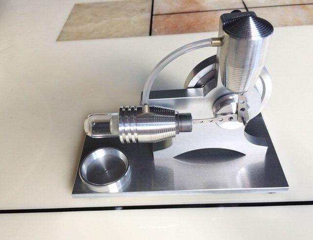 Nieuwe stirlingmotor model fysieke motor power generator externe