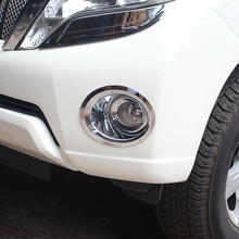 For Toyota Land Cruiser 150 Prado LC150 FJ150 2014-2017 Accessories Front Fog Lamp Cover Light Overlay Trim Chrome Car-Styling 11 pieces chrome package handle lamp fuel tank cap cover 1998 2007 for toyota land cruiser 100 lexus lx470 accessories