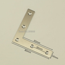 Hotsale 500PCS/LOT stainless steel angle corner brackets 80*80mm L shape brushed finish frame board support furniture hardware