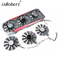 87MM T129215SU 6Pin Cooling Fan For ASUS Strix GTX 970 980 Ti R9 390X 390 GTX