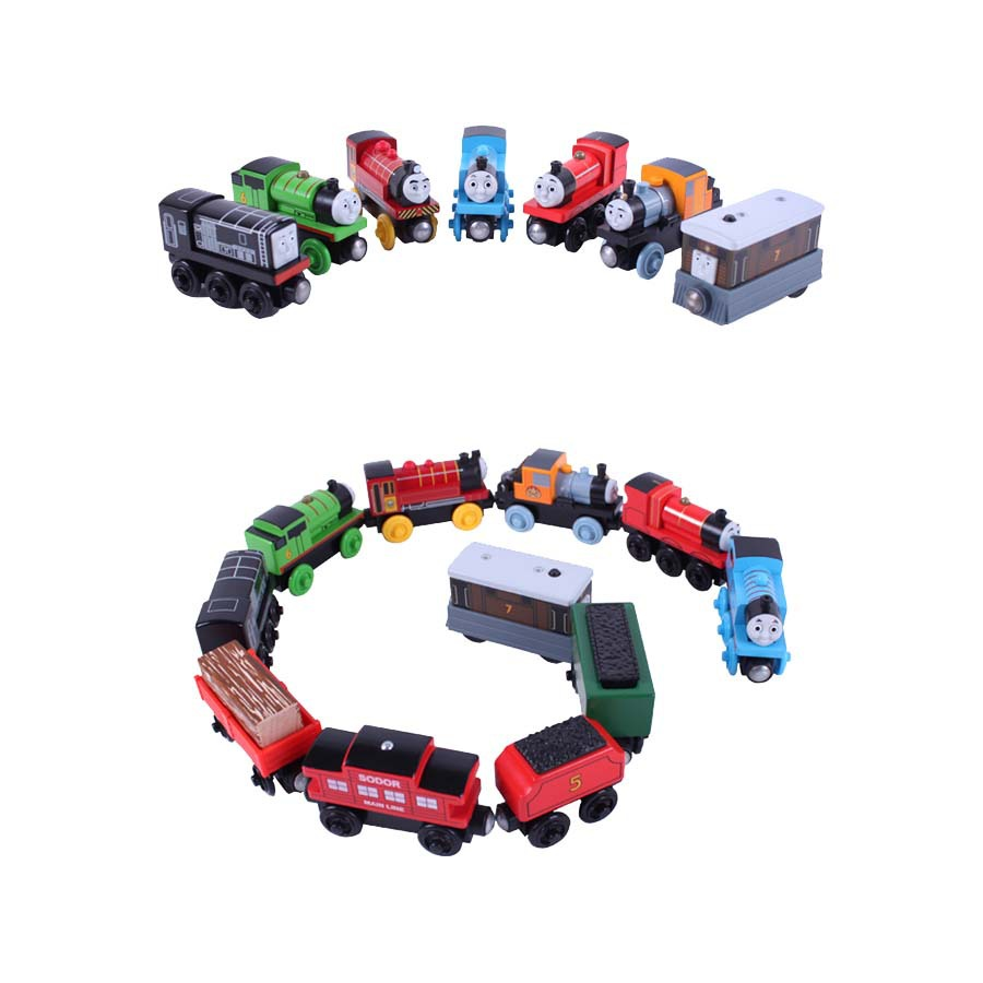 38pcs/lot FULL Tomas wooden toys Magnetic Tomas and Friends train railway train tracks