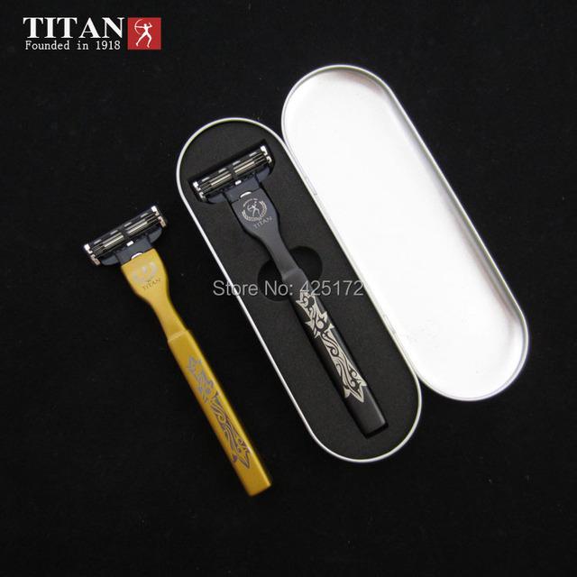 Marca titular de afeitar 1 y 4 hojas de afeitar de seguridad 3 versión y depilación Titan envío libre de afeitar
