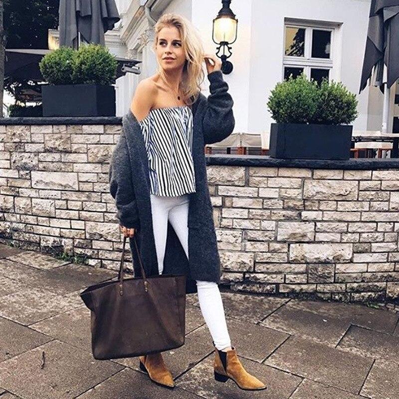 TONGMAO2018 Nya kvinnors sommarblus Sexig snedstreck Hals randig - Damkläder - Foto 5