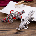 Crystal Hair Clips For Women New Ornament Trinket Barrette Hair Jewelry Accessories Hairpin Sliver Plated Rhinestone Hairgrips