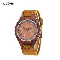 HEZONG Nature Red Sandalwood Watches Women Elegant Wrist Watch Antique Clock Gift For Men Women Female