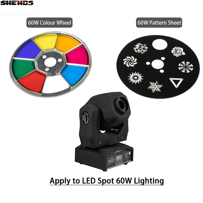 SHEHDS LED Spot 60W LED Moving Head Lights Parts Wheel Color & Gobo Wheel Accessories For DJ KTV Disco Spot Lamp