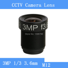 infrared surveillance 1/three  3MP three.6mm M12 thread CCTV lenses 90 diploma angle