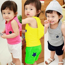 hot deal buy kids clothes 2019 new summer cotton sleeveless children's sets hooded vest+ shorts boys clothes 2-3-4-5-6-7 baby girl clothes