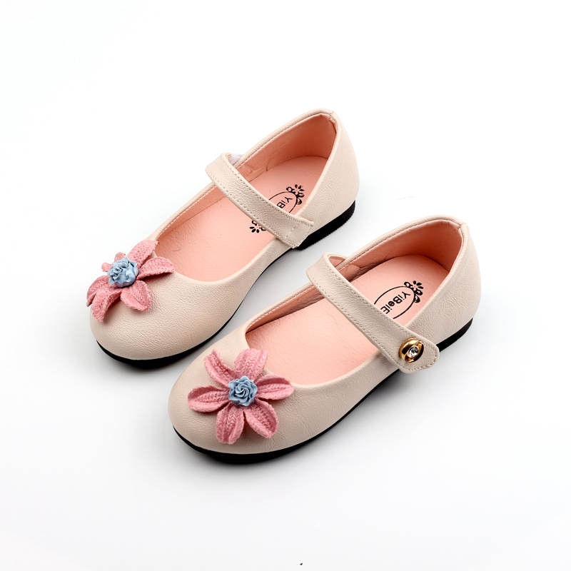 Children Princess leather shoes Kids Girls Wedding Shoes Fashion flower diamond Dress Shoes Party Shoes For Girls Size 22-31