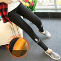 2016 Winter fashion Women's brand trousers With velvet Keep warm Lovely cat casual pencil pants leggings