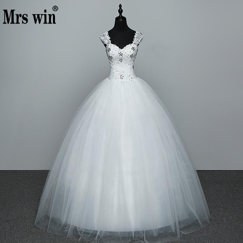 Real Photo Wedding Dress 2019 Hot Sale Applicue Simple Lace Cheap Wedding Gown With Beading Vestido De Noiva Imported-china