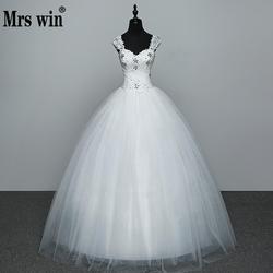 Real Photo Wedding Dress 2020 Hot Koop Applicue Eenvoudige Lace Goedkope Wedding Gown Met Kralen Vestido De Noiva Geïmporteerd-china