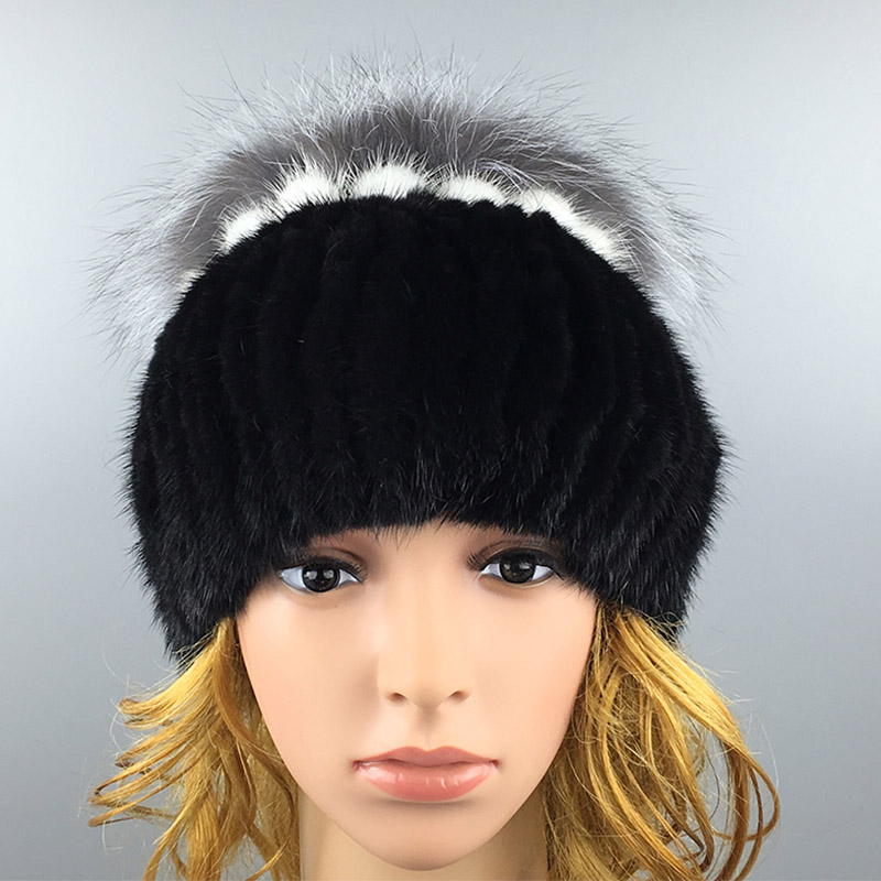 ФОТО 2016 Winter Beanies Fur Hat for Women Cute Novelty Solid Mink Fur Hot Sale Mink Fashion Fashion fur Women's Fur Hat