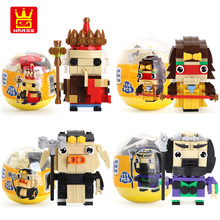 WANGE Capsule Toys Chinese Classical Characters Blocks Journey to the West DIY Building Blocks Educational Toys for Children