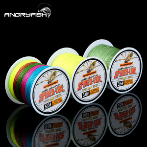 Angryfish 4 Braided Wire 100M Multicolor PE Braided 0.4#-6.0# Code 10-60LB PE Braided Multifilament Fishing Line for Saltwate