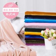 New velvet elastic fabric soft short plush shiny golden head cheongsam dress