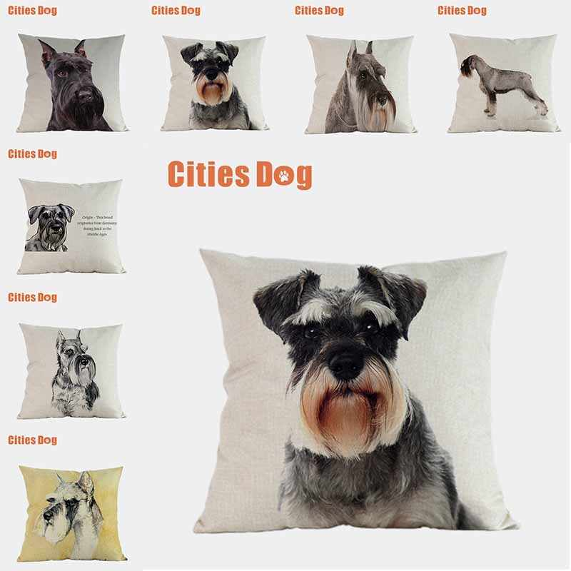 Dog Pillow Covers Decorative Cushion Covers For Sofa Pillows Standard Schnauzer Dogs Pillowcase Cushions Cover Home Decor Cushion Cover Aliexpress
