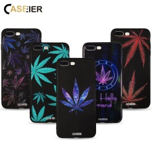 CASEIER Colorful Leaves Phone Cases For iPhone 6 7 6s 8 Plus 5 5S SE X XR XS 3D Relif Case With Soft TPU Silicone Cover