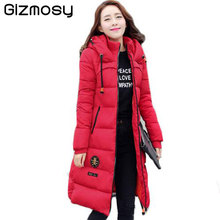 Plus Size Warm Winter Hooded Jacket Women Zipper Top Manteau Femme Basic Outerwear Coat Jacket Casacos De Inverno Feminino SY585
