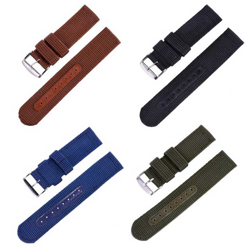 Two paragraph NATO NATO thickening section Canvas nylon strap Men's watch with 18 20 22 24mm
