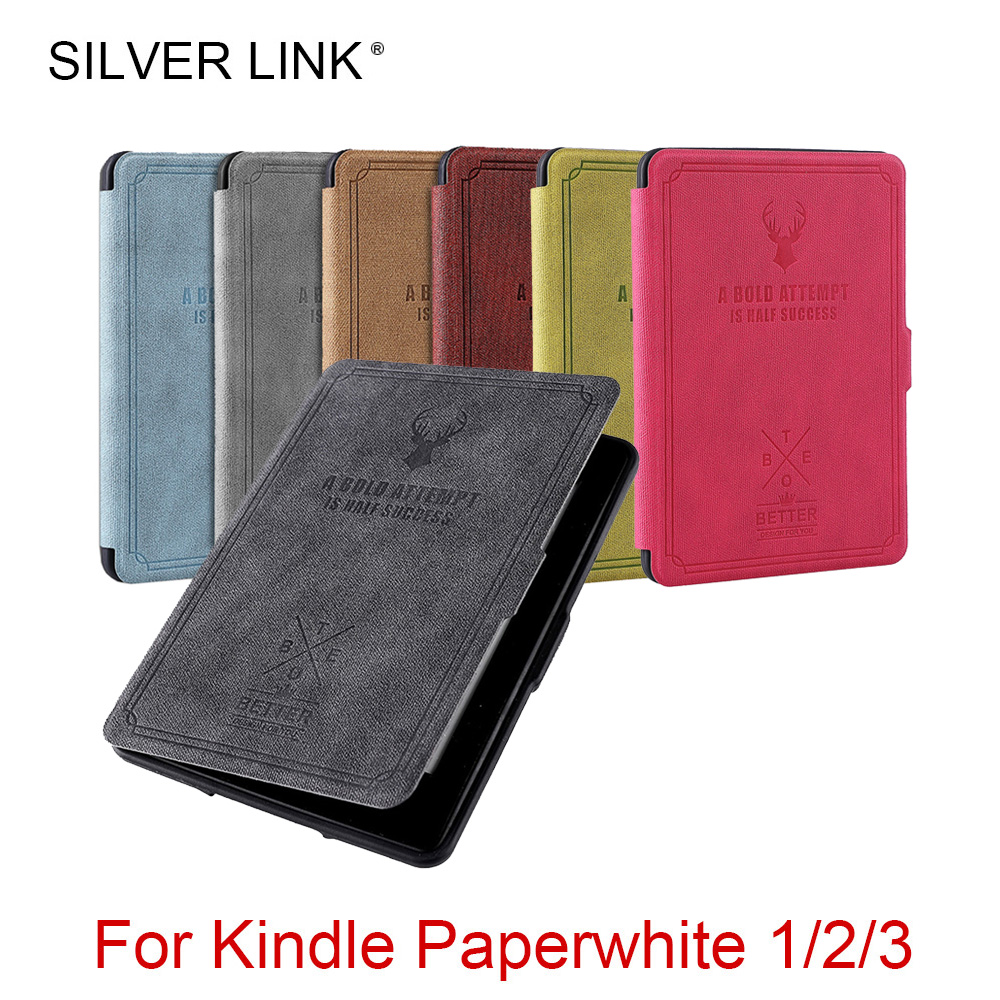 SILVER LINK Paperwhite Case Deer Print UP Silicone Cover For Auto Sleep/Wakeup Heats Disspate Soft Shell