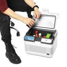 12L холодильник двойного использования дома автомобильные холодильники мини-морозильник 12V 60W Портативный крайне низкий уровень шума охлаждения и нагрева коробка для путешествий