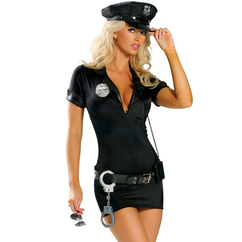 2018 New Cool Girls Cosplay Police CostumeBlack And Blue Fancy Copwomen Fancy Dress Cop  sc 1 st  AliExpress.com & 2018 New Adult Blue/Black Women Sexy Police Costume Party Club ...