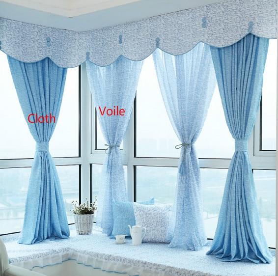 Customized High Grade Fresh Voile Curtain,printing Window