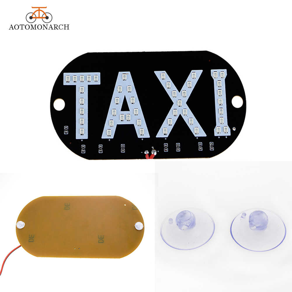 1pc LED Taxi Panel Uber carlight Signal Light Windscreen Cab indicator inside Lamp Windshield Lamp 12V CJ