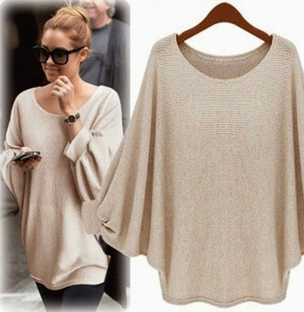 2018 New sweater Women candy color Oversized Batwing Knitted Pullover Loose Sweater Knitted Tops high quality clothing 8