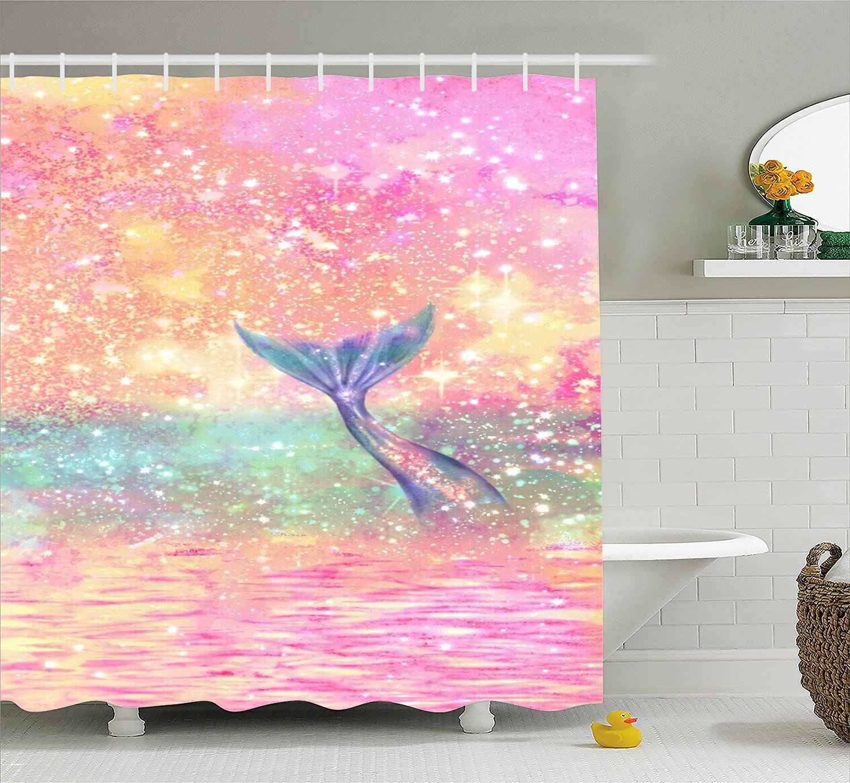 Super Rui Mermaid Shower Curtain Bathroom Decoration