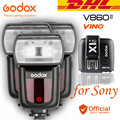 DHL 3 xGodox V860II-S HSS Flash Speedlite Li-ion Battery 2.4G + Transmissor Gatilho Para Sony a7r a77 DSLR ii ii ilce-6000l a58 a99