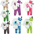 Cute Animal 3-piece Baby Boy Girl Clothing Kids Clothes Set Long Sleeve New Born Bodysuit + Pants + Cap Children's Suit Infant
