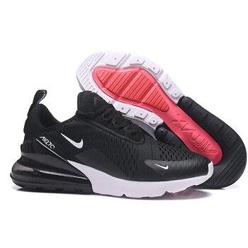 Nueva llegada Nike Air Max 270 cojín de aire 270 hombres corriendo Zapatos blanco  negro Original Nike Airmax 270 zapatillas de deporte de los hombres air ... 0c9b938489b84