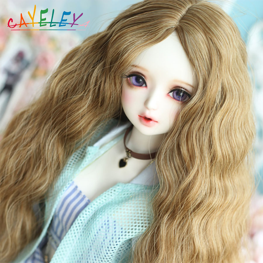 Cataleya Bjd Doll Wig 1/3 1/4 1/6 1/8 Various Color Doll Accessories Long Curly Hair