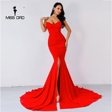 Missord 2020 Sexy wrapped chest asymmetric maxi dress party dress