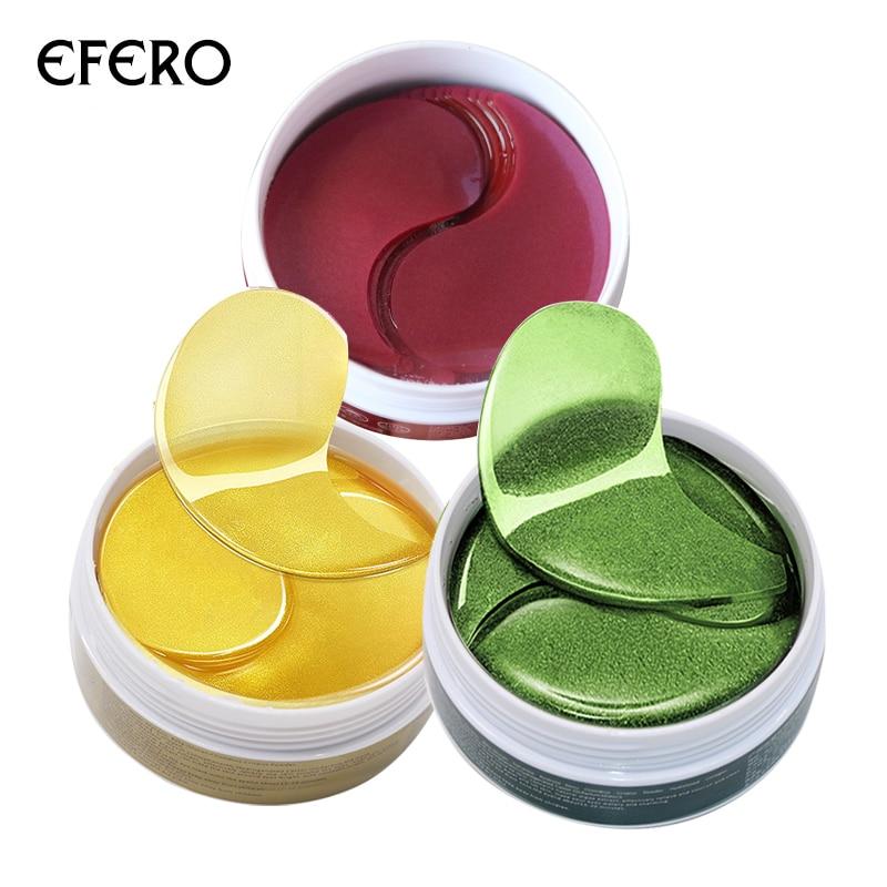 цена на 60pcs 24K Gold Serum Collagen Eye Mask Whey Protein Gel Eye Patches for the Eyes Anti-Wrinkle Moisturizing Eye Cream Face Mask